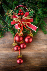 fir tree with christmas toys