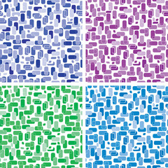 Set of seamless backgrounds of rectangles