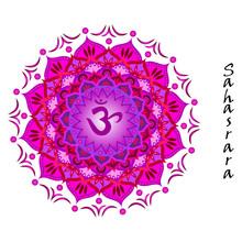 Lotusblomma av sahasrara chakra