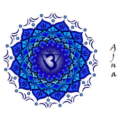 Lotus flower of Ajna chakra