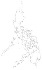 Philippinen in weiß