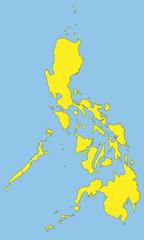 Philippinen in blau und gelb