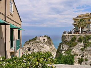 Italy,Calabria-view to church Santa Maria in Tropea