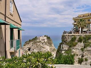 Italy,Calabria-view to church Santa Maria in Tropea