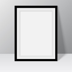 Black frame for paintings or photographs