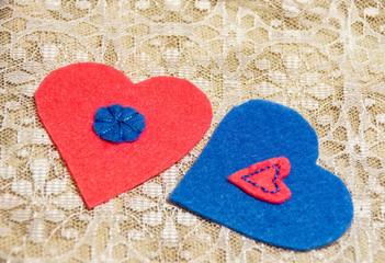 Valentine's Day. Handmade. Decoration.