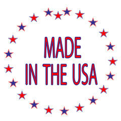 Red, White & Blue Made in the USA
