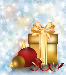 Merry Christmas and happy new year background, vector
