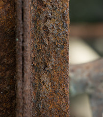 close up of steel bars