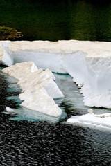 Blocs de glace, neige