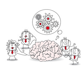 The business team and the brain