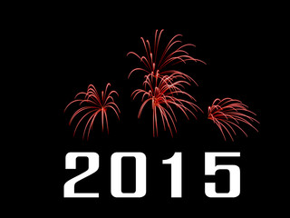 New Year 2015 with fireworks