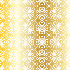 Gold Nordic Pattern