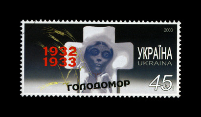 starvation (famine) of 1932-33 in Ukraine, cancelled stamp