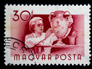 Hungarian postage stamp