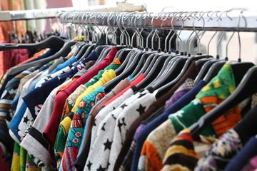 vintage clothes for sale at flea market