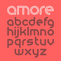 Font from chain, alphabet