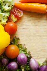 frame of vegetables and fruits/harvest/autumn