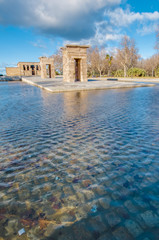 The Temple of Debod in Madrid, Spain.