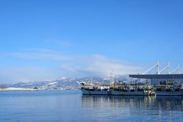 The port of Hakodate in Hokkaido