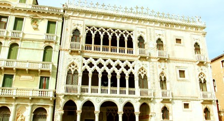 VENICE, ITALY - CIRCA 2014: Ca' d'Oro, Golden House view from