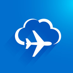 airplane flight tickets air fly travel takeoff cloud blue