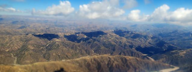 Cordillère des Andes sur la partie Bolivienne, vue du ciel