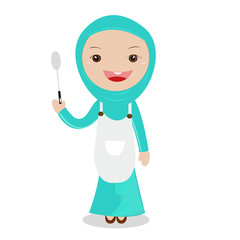 Cooking girl.