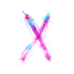 Twinkle light alphabet X.