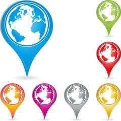 Logo, Erde, Weltkugel, Pin, Ziel
