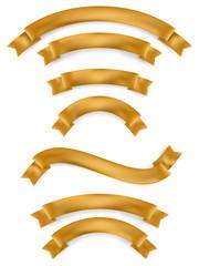 Set of gold ribbons. EPS 10
