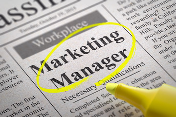 Marketing Manager Jobs in Newspaper.