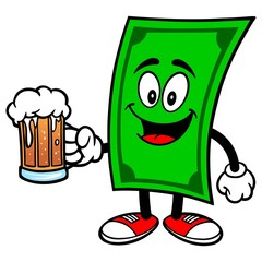 Dollar with Beer