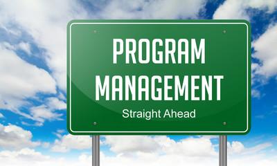 Program Management on Highway Signpost.
