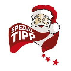 Weihnachtsmann Vektor Label Spezial-Tipp1