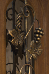 forged metal pattern on the door