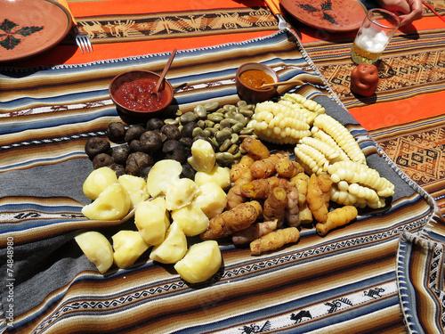 Leinwandbild Motiv spécialités du Pérou