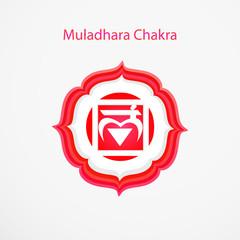 Symbol of Muladhara chakra vector