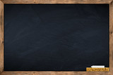 blackboard with sponge and chalk