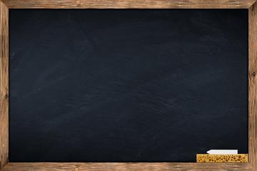 blackboard with sponge and chalk