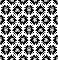 Black and white seamless pattern with flower style, abstract bac