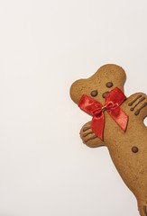 Gingerbread Bear Isolated on white.