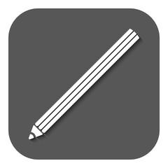 The pencil icon. Pencil symbol. Flat.