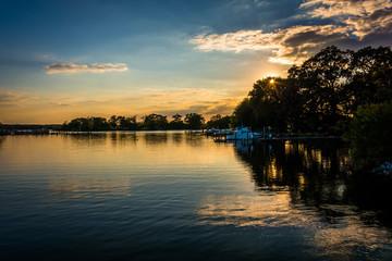Sunset over Duck Creek in Essex, Maryland.