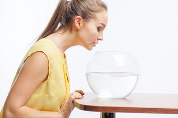 girl with an aquarium
