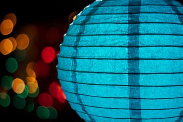 Blue Chinese Lantern