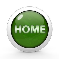 home circular icon on white background