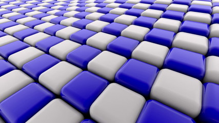 Abstract blue and white squares