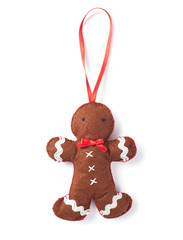 handmade. gingerbread man out of felt