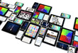 Leinwanddruck Bild - smartphones and tablets collection isolated